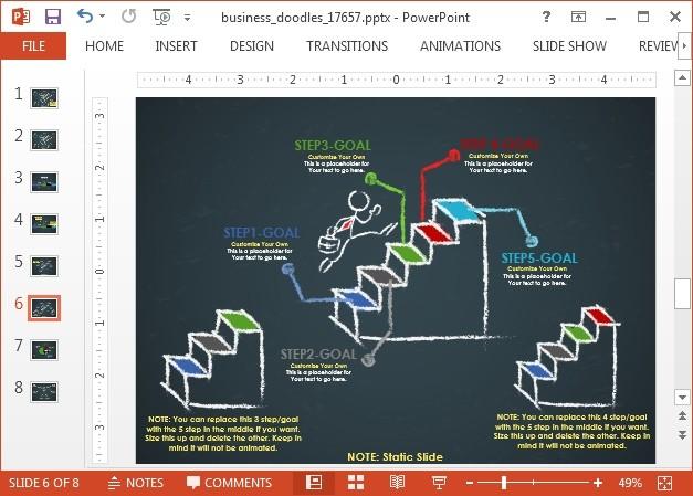 Staircase timeline slide