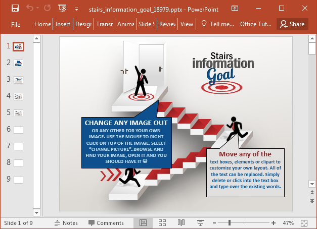 Stairs Powerpoint template