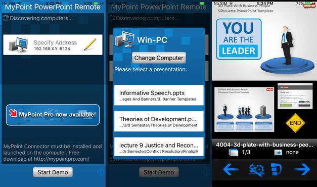 Start PowerPoint slideshow from iPhone