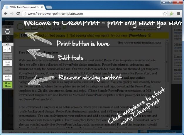 Start Using CleanPrint