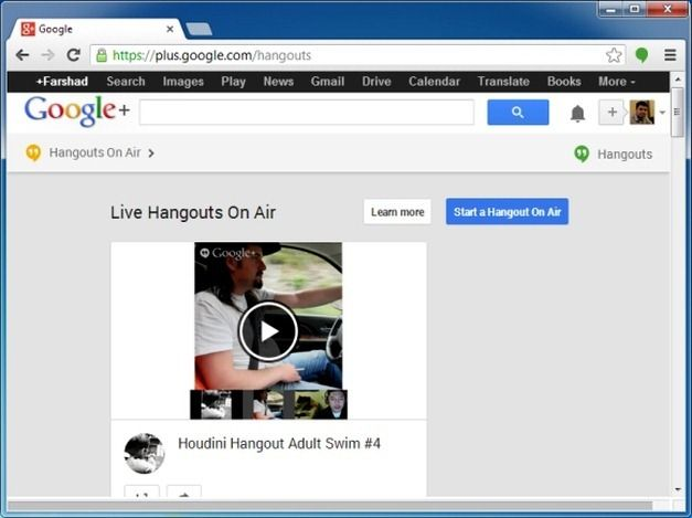 Start a Hangout on Air