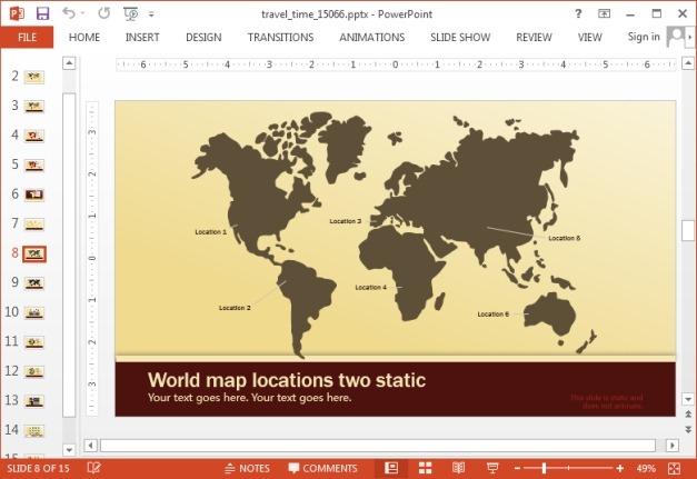 Static travel themed slide