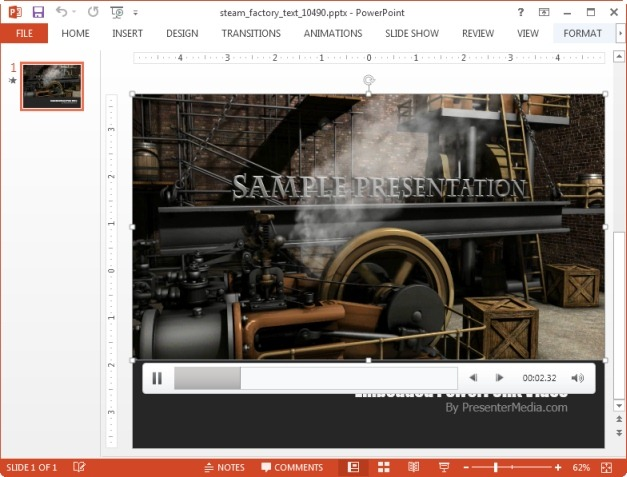 Steam factory animated slide
