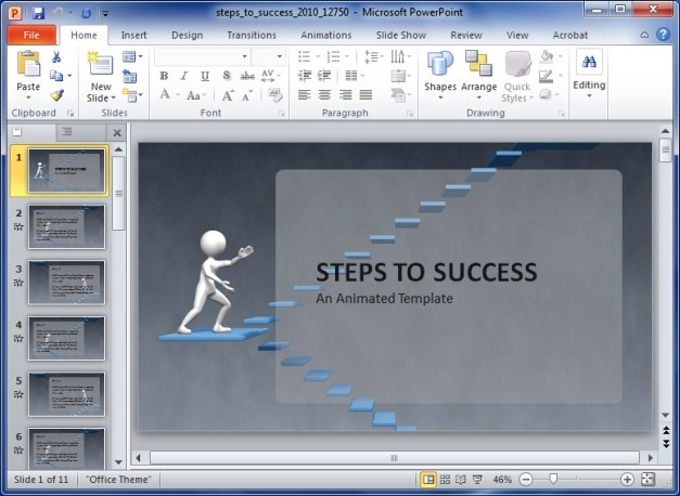 Steps To Success Animated PowerPoint Template