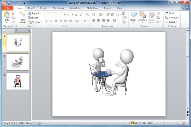 Stick Figure Coffee Table Talk Clipart