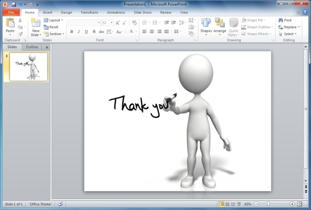 Stick Figure Drawing Thank You