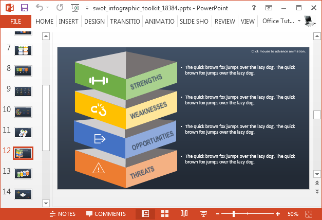 Swot analysis PowerPoint diagram