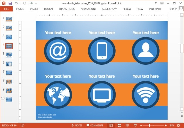 Telecom template for PowerPoint