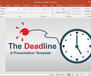 The Deadline Animated PowerPoint Template