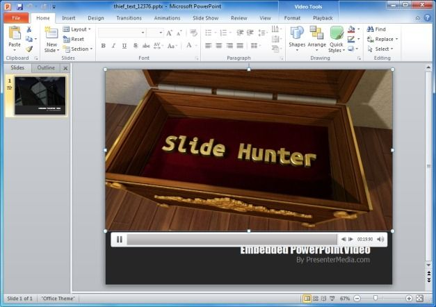 Thief Text PowerPoint Template