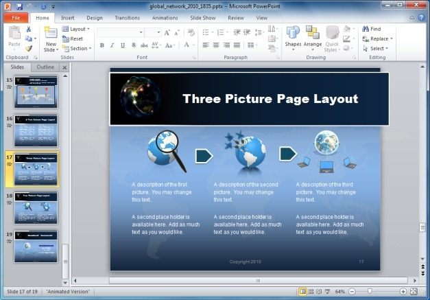 Three Picture Technology Layout