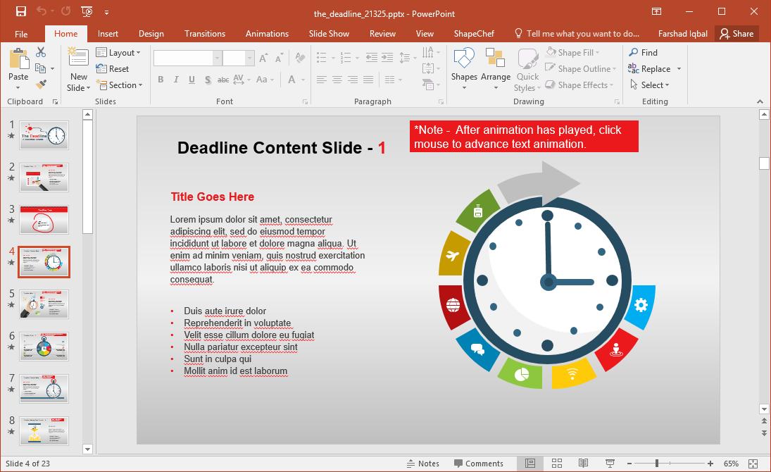Time Infographic Slide