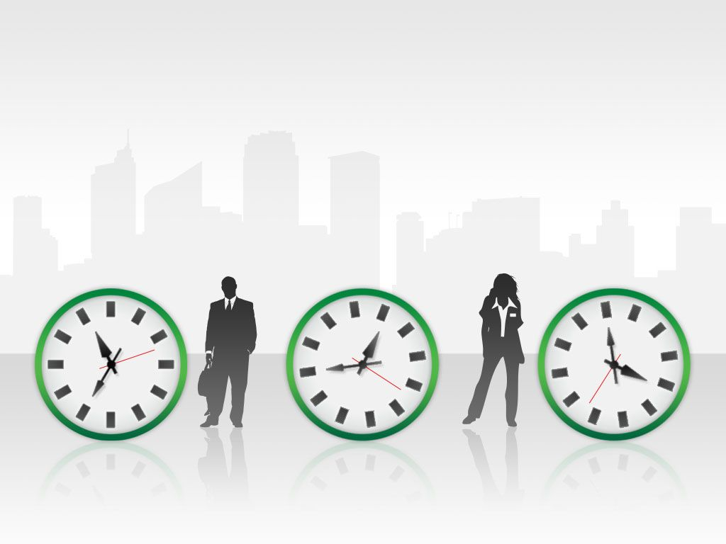 Time Management Green PowerPoint Template
