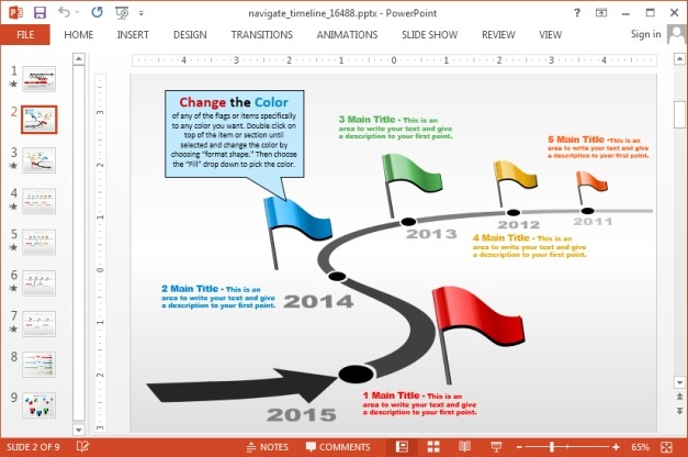 Timeline maker template for PowerPoint