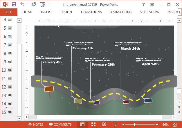 Timeline slide with storm animation