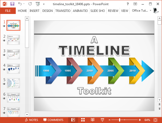 Timeline toolkit presentation template