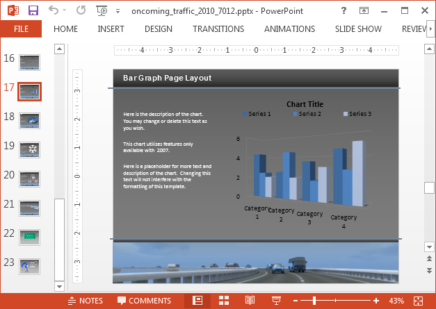 Traffic animation with charts