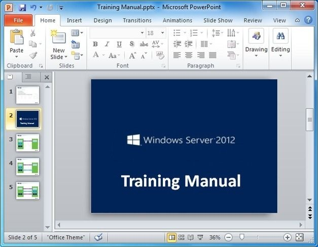 Training Manual in PowerPoint