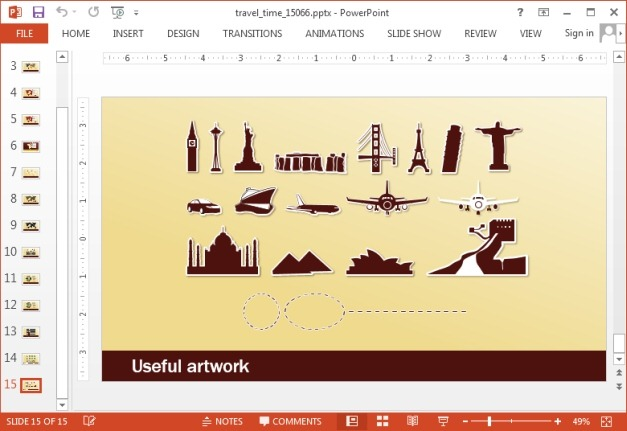 Travel clipart for PowerPoint
