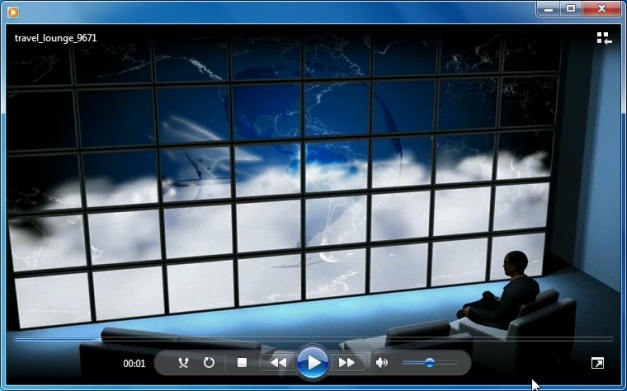 Travel lounge video background
