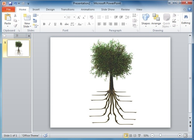 Tree With Roots Clipart