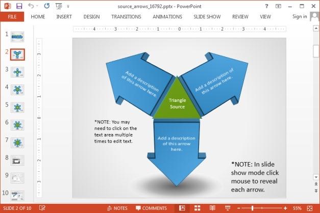 Triangle arrow slide design