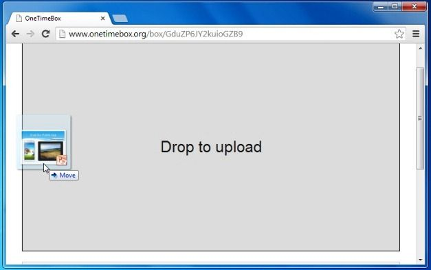 Upload files to disposable folder