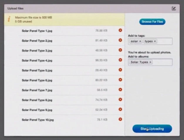 Upload sales information to Showpad