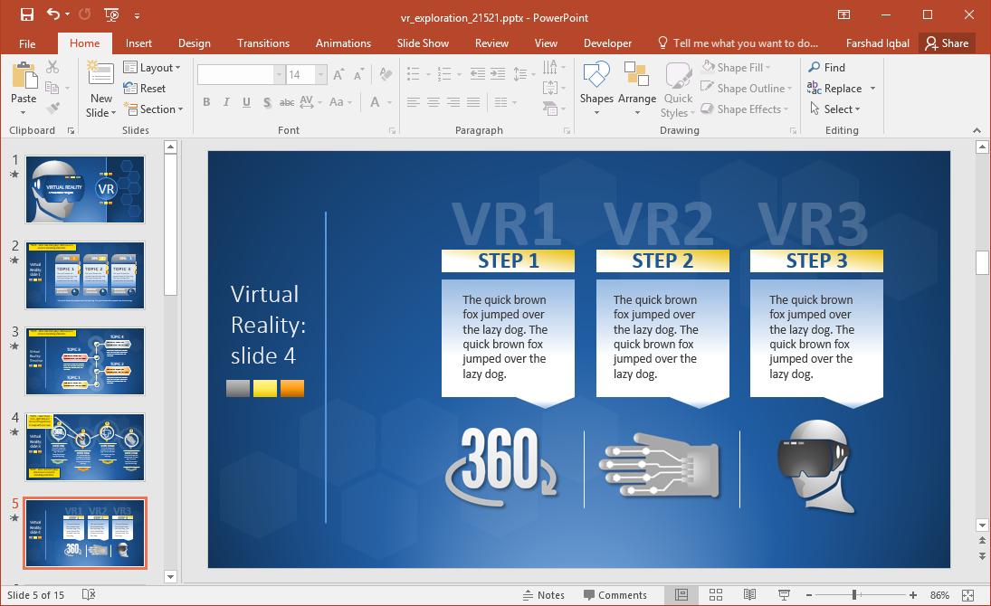 VR Infographic