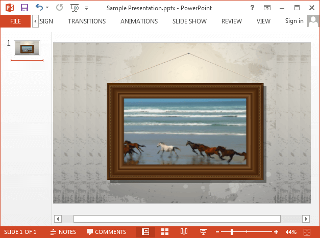 Video playing in picture frame in PowerPoint