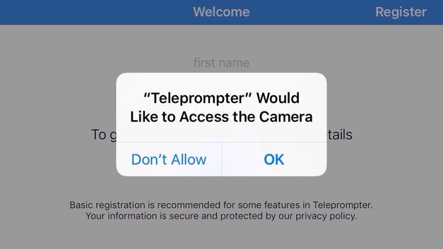 Video teleprompter app