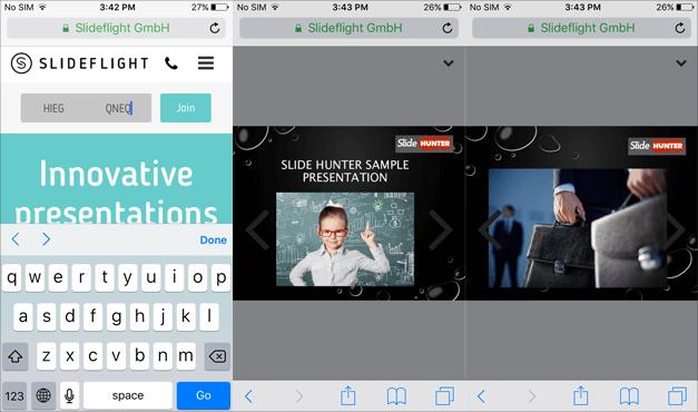 View shared slides