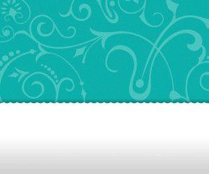 Vintage Floral Turquoise PowerPoint Template