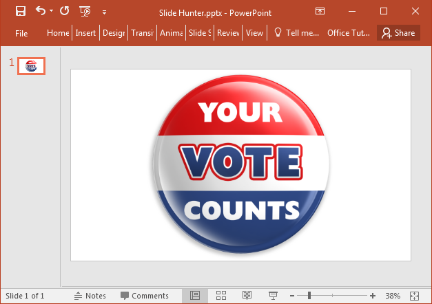 Voting badge clipart