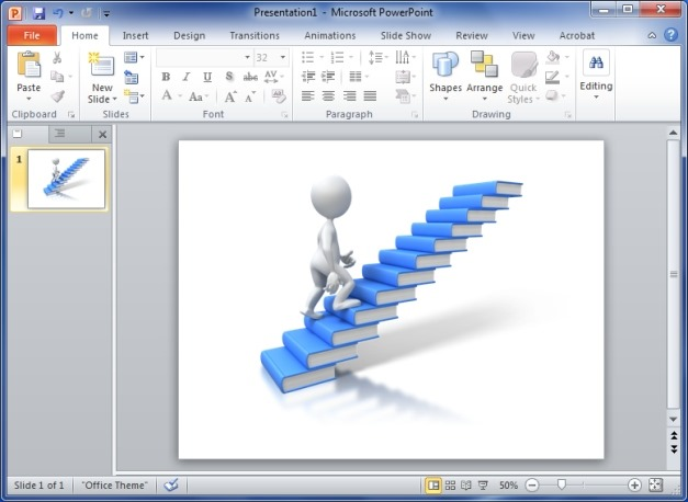 Walking Up Books Clipart