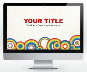 Plantilla PowerPoint con Círculos de Arcoiris Gratis