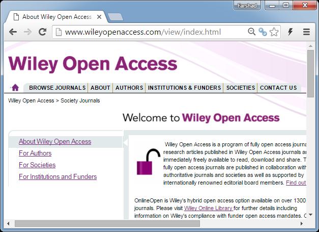 Wiley open access