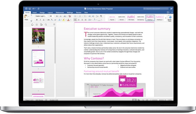 Word 2016 for Mac