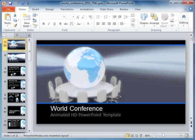 World Conference PowerPoint Template