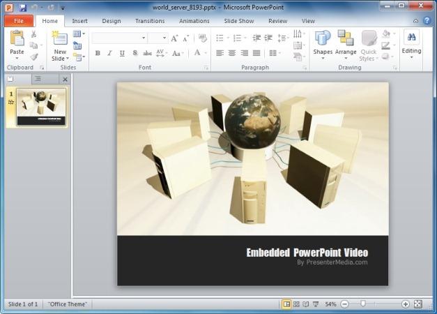 World Server PowerPoint Template