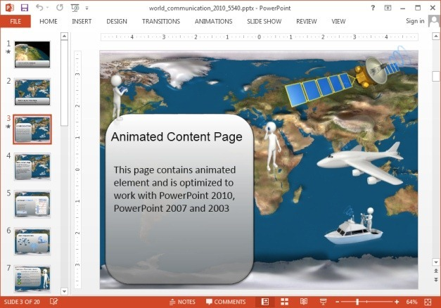 World communication template for PowerPoint