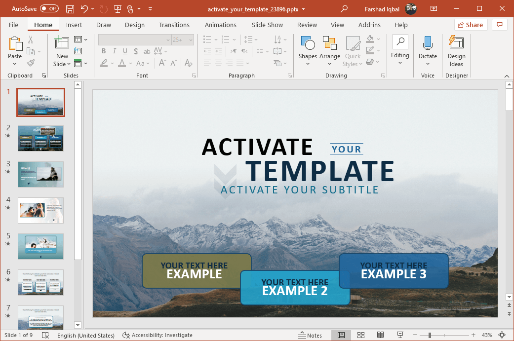 Wow experience PowerPoint template