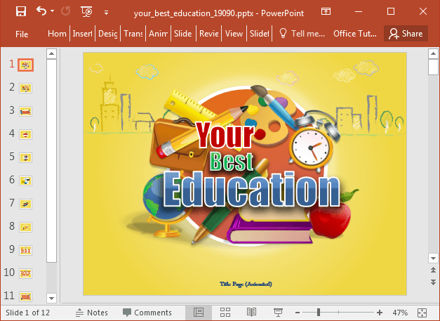 Your best education PowerPoint template