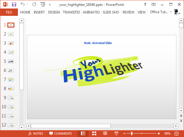 Your highlighter PowerPoint template
