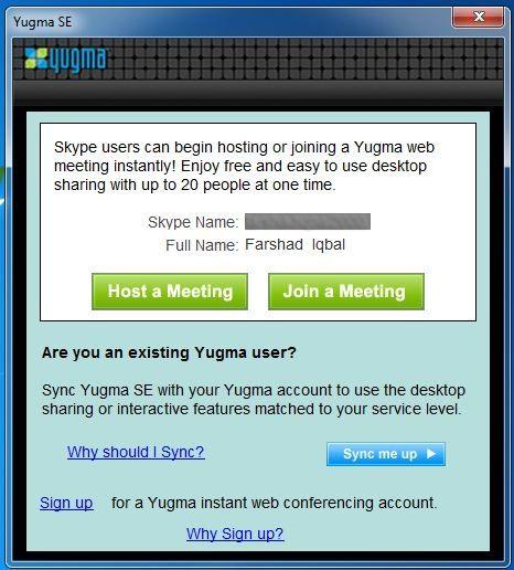 Yugma Plugin for Skype