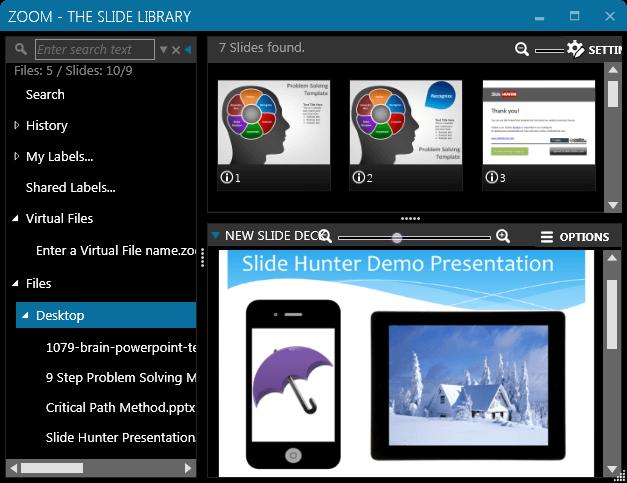 Zoom slide management software for Windows