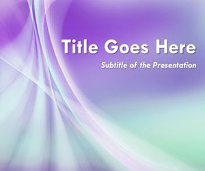 Abstract Purple Smoke Powerpoint Template