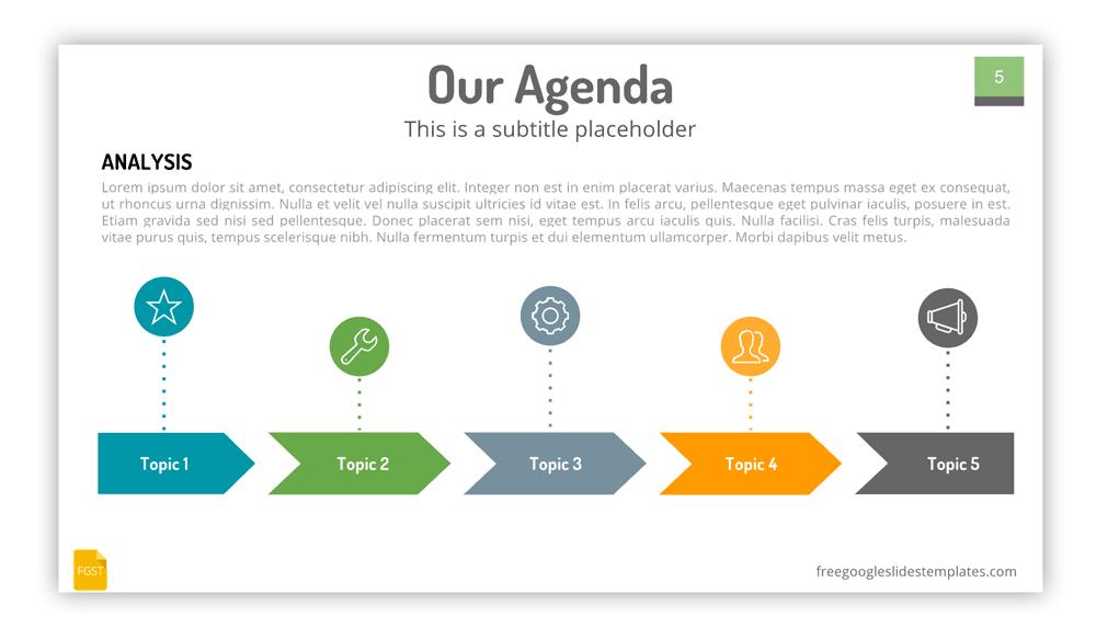 Agenda Slide for Google Slides