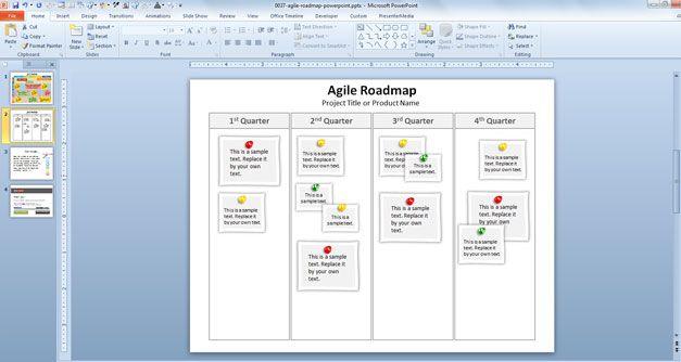 agile template product development powerpoint