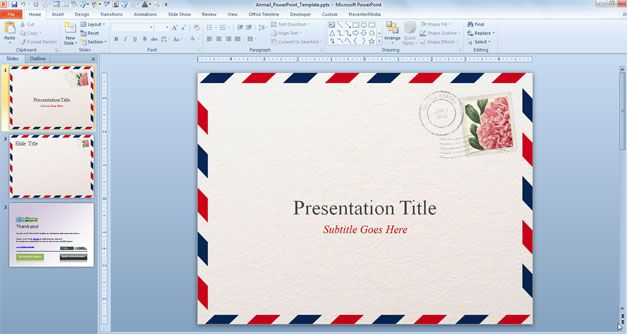 Free Airmail PowerPoint Template